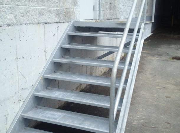 <span>Galvanized Exterior Stair:</span>